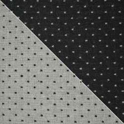 Жаккард костюмный 2-ст. черно-белый крапки ш.154 оптом