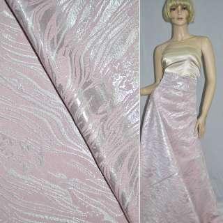 фукра розовая с серебрист.люрексом шир.150 см оптом