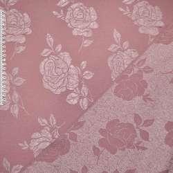 Фукра розовая в розы оптом