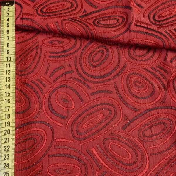 Фукра красная с абстрактным рисунком и люрексом оптом