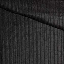 Фукра черная в полоску, ш.140 оптом