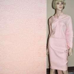 Фукра розовая с розовым орнаментом