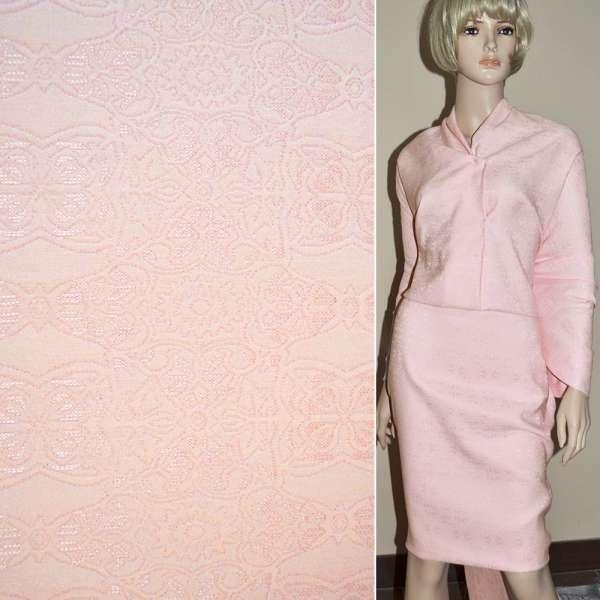 Фукра розовая с розовым орнаментом оптом