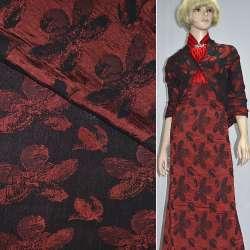Фукра черная с красными цветами оптом
