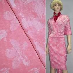 Фукра розовая с белыми цветами оптом
