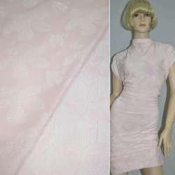 Фукра бледно-розовая с рисунком цветы оптом