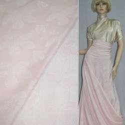 Фукра розовая с крупными светлыми цветами оптом