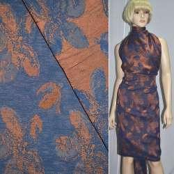Фукра терракотовая с синими цветами оптом