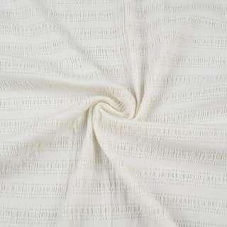 """Тканина костюмна стрейч біла в смужку """"магнолія"""" ш.85 оптом"""