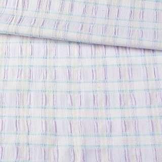 """Ткань юбочная стрейч сиреневая в голубую полоску """"шик"""" ш.130 оптом"""