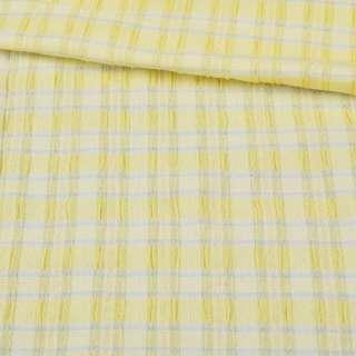 """Тканина спіднична стрейч жовта в сіру смужку """"шик"""" ш.130 оптом"""