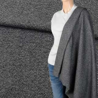 Твід костюмний сірий діагональ ш.150 оптом