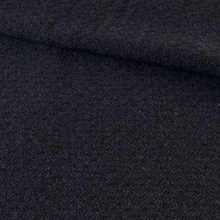Твид черно-синий ромбы, ш.145 оптом