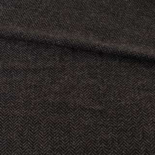 Твид елочка серо-черный 13мм, ш.145 оптом