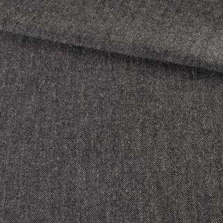 Твид елочка серый темный с узелками, ш.140 оптом