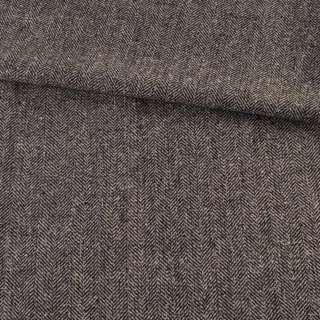 Твид елочка серо-черный с узелками, ш.145 оптом