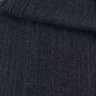 Твид елочка черно-синий, ш.145 оптом