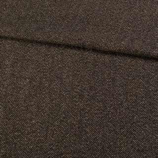 Твид елочка коричнево-черный, ш.155 оптом