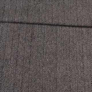 Твид елочка черно-белый 40мм, ш.150 оптом