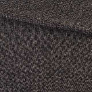 Твид елочка серо-черный 8мм, ш.152 оптом