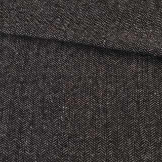 Твид елочка серо-черный 15мм, ш.145 оптом