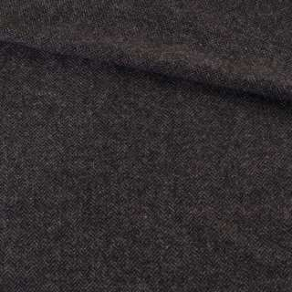 Твид елочка черно-серый, ш.136 оптом