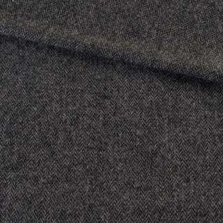 Твид елочка серо-черный 8мм, ш.135 оптом