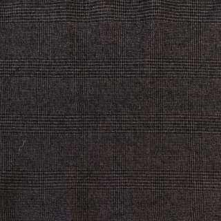 Твид черно-серый в клетку, ш.136 оптом