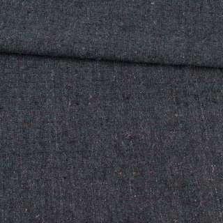 Твид серо-синий с цветными вкраплениями, ш.146 оптом