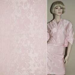 Коттон серебристо-розовый жаккард оптом