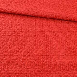 Рогожка рельефная в кубики красная, ш.144 оптом