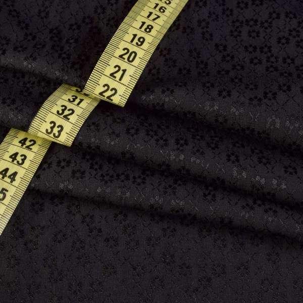 Коттон-жаккард черный в цветы ш.155 оптом
