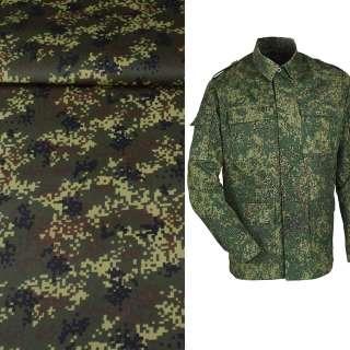 ткань камуфляжная т/зеленая с коричнево-черным ш.150 оптом