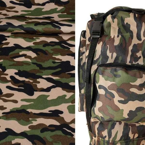 Ткань камуфляжная бежевая с зелено-черным ш.150 оптом