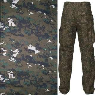Ткань камуфляжная коричневая с зелено-серым ш.150 оптом