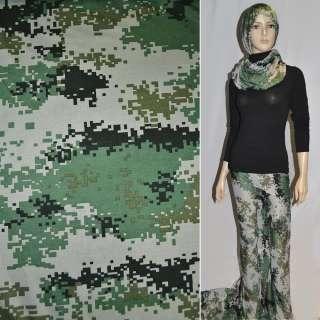 Трикотаж серо-зелено-черный камуфляж ш.155 оптом