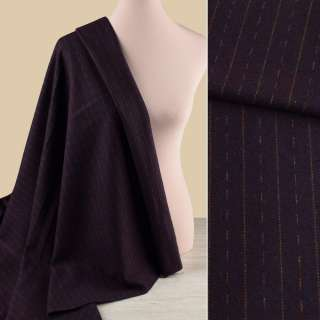 Тканина костюмна фіолетова темна в оливкові штрихи і смужки, ш.150 оптом