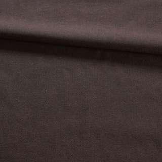 Ткань костюмная хлопковая в мелкую елочку коричневая, ш.145 оптом