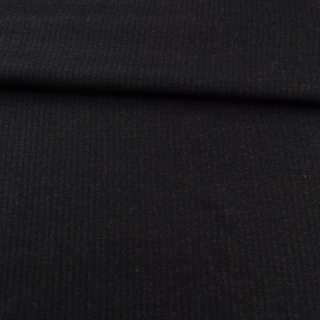Ткань костюмная с вискозой в полоску узкую черная, ш.150 оптом