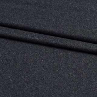 Шерсть костюмная черная в белые ворсинки, ш.150 оптом