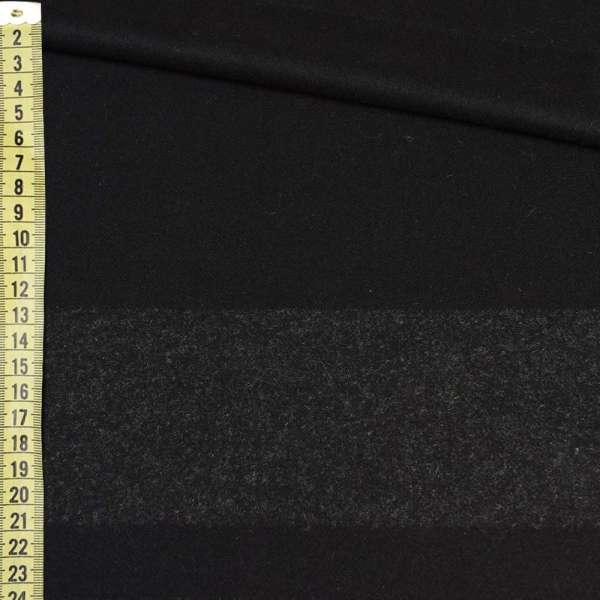 Кашемир черный, темно-серая полоска, раппорт 86см, ш.153 оптом