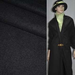 Ткань костюм. гладкокраш. черная  ш.155 оптом