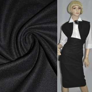 Ткань костюм. гладкокраш. черная  ш.153 оптом
