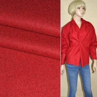 Ткань костюмная красная ш.155 оптом