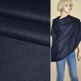 Ткань костюмная сине-черная ш.150 оптом