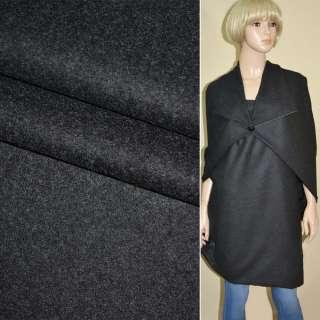 Ткань костюмная темно-серая ш.155 оптом