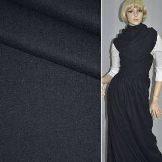 Ткань костюмная темно-синяя ш.154 оптом