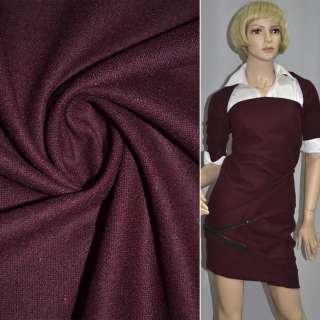 Ткань костюмная темно-вишневая ш.148 оптом