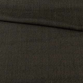 Жаккард чорний в чорно-жовту рельєфну клітку, ш.148 оптом