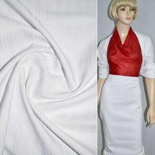 Ткань костюмная белая, ш.150 оптом